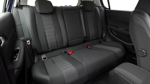 A clean and tidy car interior, backseat