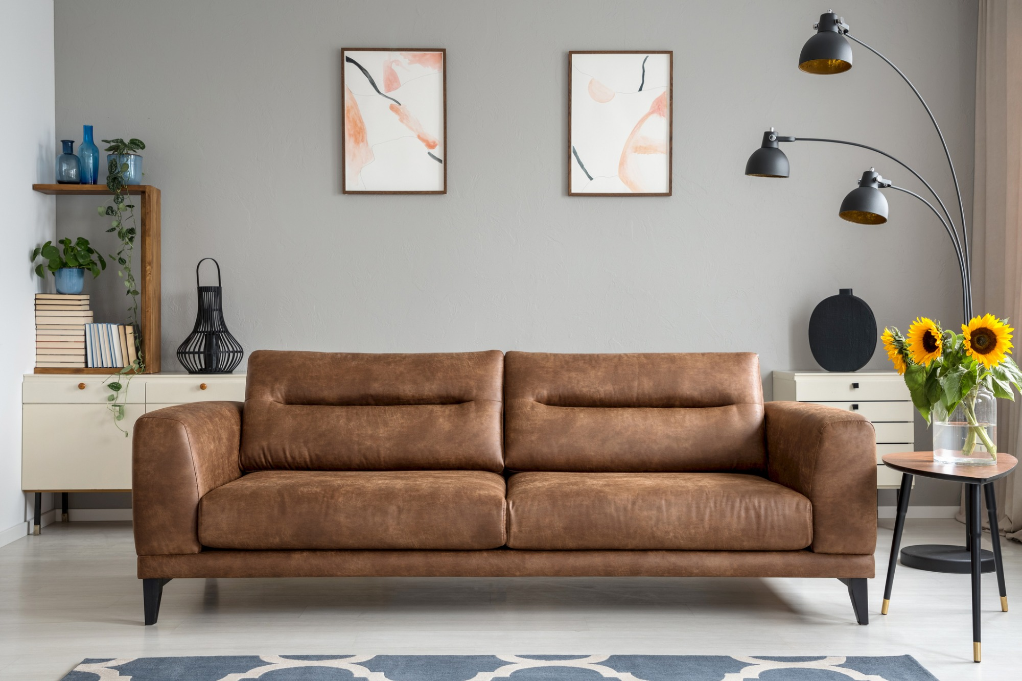 How to store leather furniture